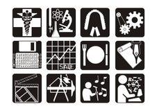 Iconos de la carrera stock de ilustración