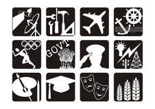 Iconos de la carrera   ilustración del vector