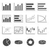 Iconos de la carta ilustración del vector