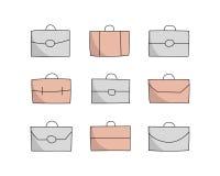 Iconos de la cartera de Vecor Foto de archivo libre de regalías