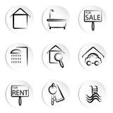 Iconos de la casa Fotos de archivo