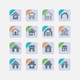Iconos de la casa Imagen de archivo libre de regalías