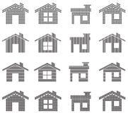 Iconos de la casa Fotografía de archivo
