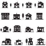 Iconos de la casa Foto de archivo libre de regalías