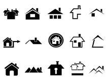 Iconos de la casa fijados Imagen de archivo