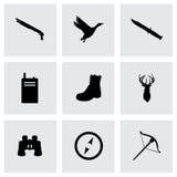 Iconos de la caza del vector fijados Imagenes de archivo