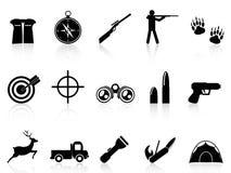 Iconos de la caza fijados Imagen de archivo libre de regalías