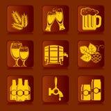Iconos de la cerveza ilustración del vector