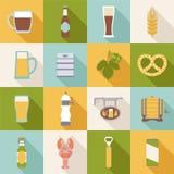 Iconos de la cerveza Imágenes de archivo libres de regalías