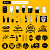 Iconos de la cerveza libre illustration
