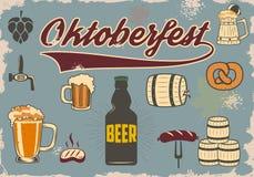 Iconos de la cerveza Imagen de archivo libre de regalías