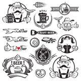 Iconos de la cerveza fijados Imágenes de archivo libres de regalías