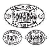 Iconos de la cerveza fijados Imagen de archivo