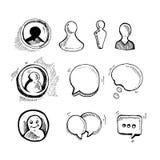 Iconos de la charla del web Fotos de archivo libres de regalías