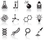 Iconos de la ciencia Imagen de archivo libre de regalías