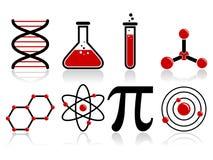 Iconos de la ciencia Imágenes de archivo libres de regalías