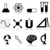 Iconos de la ciencia Imagen de archivo