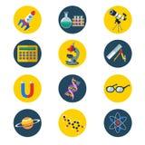 Iconos de la ciencia stock de ilustración