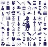 Iconos de la ciencia Fotos de archivo
