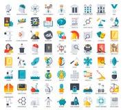 Iconos de la ciencia fijados Imagenes de archivo