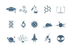 Iconos de la ciencia | serie de flautín Imagenes de archivo