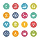 Iconos de la ciencia -- Serie fresca de los colores Imagen de archivo libre de regalías