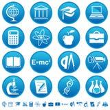 Iconos de la ciencia y de la educación Stock de ilustración