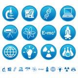 Iconos de la ciencia y de la tecnología Imagen de archivo libre de regalías