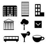 Iconos de la ciudad Foto de archivo