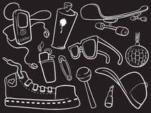 Iconos de la ciudad en negro stock de ilustración