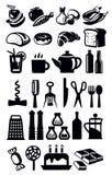 Iconos de la cocina Foto de archivo libre de regalías