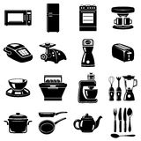 Iconos de la cocina Fotos de archivo