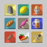 Iconos de la cocina Imagenes de archivo