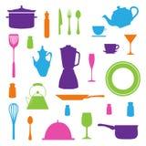 Iconos de la cocina fijados Fotos de archivo