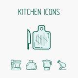 Iconos de la cocina fijados Foto de archivo libre de regalías