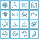 Iconos de la colección para el web y los apps móviles Fotografía de archivo