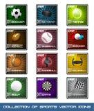 Iconos de la colección de deportes muy populares Imagenes de archivo