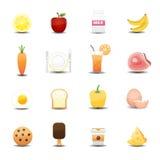 Iconos de la comida Imagen de archivo libre de regalías