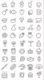 Iconos de la comida Fotografía de archivo libre de regalías