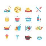 Iconos de la comida Foto de archivo