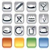 Iconos de la comida stock de ilustración