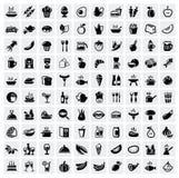 Iconos de la comida fijados Imágenes de archivo libres de regalías