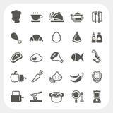 Iconos de la comida fijados Foto de archivo