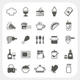Iconos de la comida fijados en el fondo blanco Imagen de archivo
