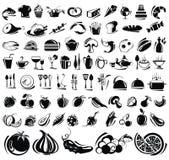 Iconos de la comida y de la bebida fijados Imagen de archivo libre de regalías