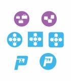 Iconos de la compañía de Saas Foto de archivo libre de regalías