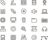Iconos de la computación y de las TIC Imagen de archivo libre de regalías