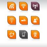 Iconos de la comunicación. stock de ilustración