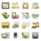 Iconos de la comunicación. Foto de archivo libre de regalías