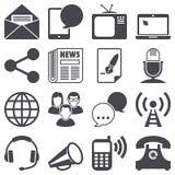 Iconos de la comunicación Imágenes de archivo libres de regalías